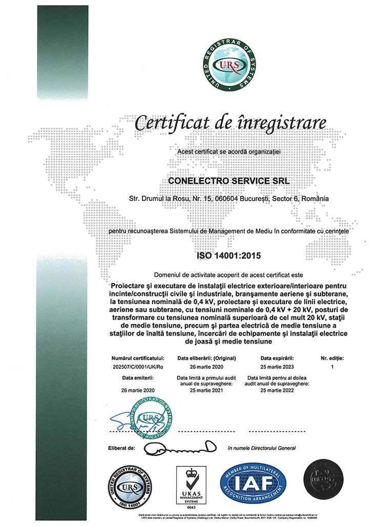 CONELECTRO SERVICE SRL - ISO 14001