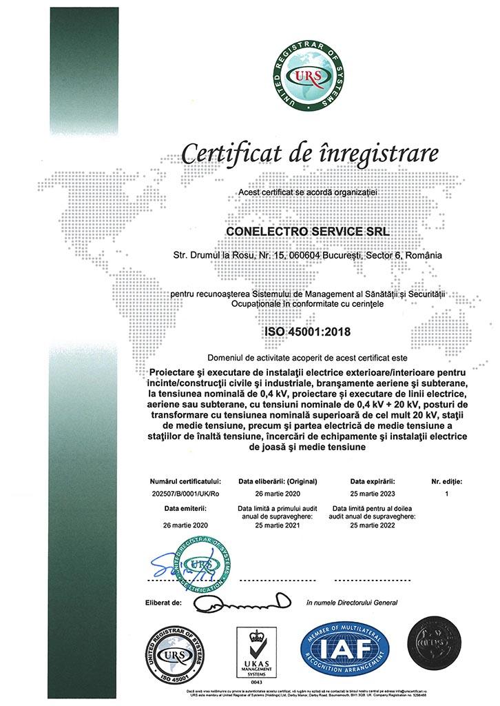 CONELECTRO SERVICE SRL - ISO 45001